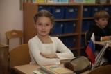 Школьница на уроке