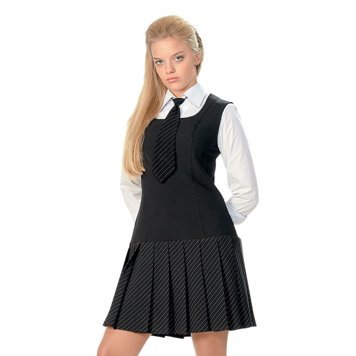 модели школьных сарафанов для девочек - фото #1