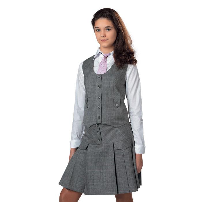 Школьная форма серая юбка и жилет